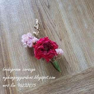 Bridegroom corsage(dried flowers)