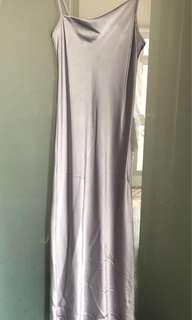 Elegant Silver Dress with Bling Detail