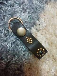 Keychain leather