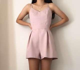 Backless Pink Playsuit