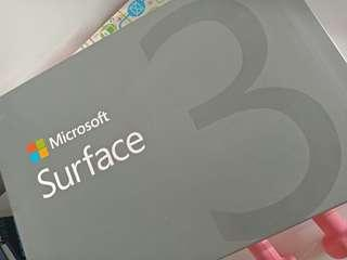 Surface 3 Tablet/Laptop, detachable keyboard included