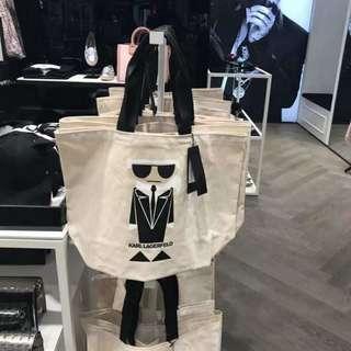 Karl Lagerfeld 帆布購物袋 托特包