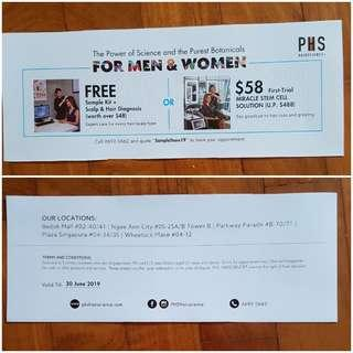 PHS Hairscience voucher