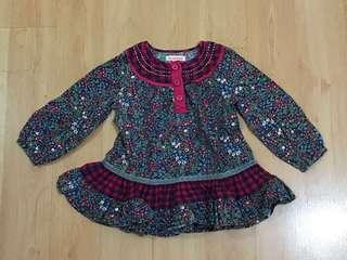 Blue Zoo floral long sleeves 12 to 18 months