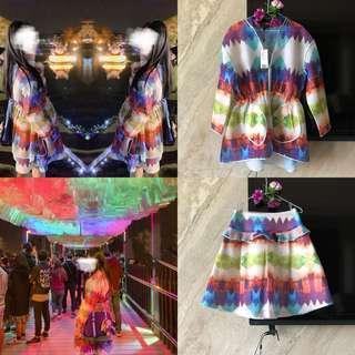 極新,標價2萬1)設計師彩染澎紗套裝