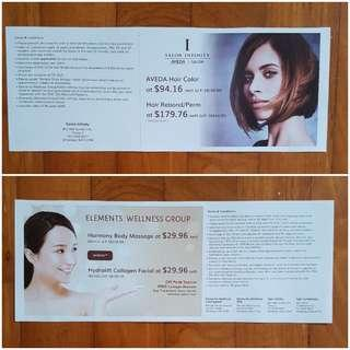 Salon Infinity / Elements Wellness voucher