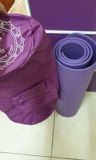 1公分瑜珈墊附背帶