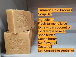 Turmeric Cold Process Soap Bar