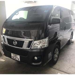 2014 Nissan NV350 Diesel For Rent