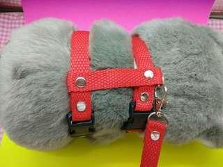 Tali tuntun (model harness O) untuk kucing, musang, reptil, anjing kecil.