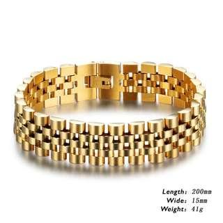Stainless steel gold plated Jubilant bracelet
