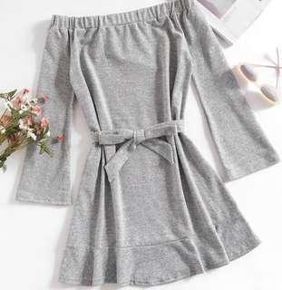 Size 10 | Grey Tie-Up Dress #SwapAU
