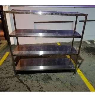 Stainless Steel 4 Tier Solid Rack