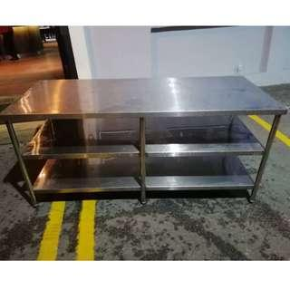 Stainless Steel 3 Tier Wok Table