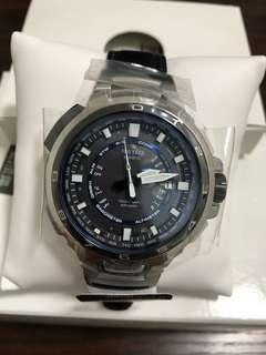 日本CASIO PROTREK MANASLU 限量版PRX-7000L-7-JF太陽能6局電波3重感應器(氣壓,溫度,高度)行山型合成皮革錶帶手錶