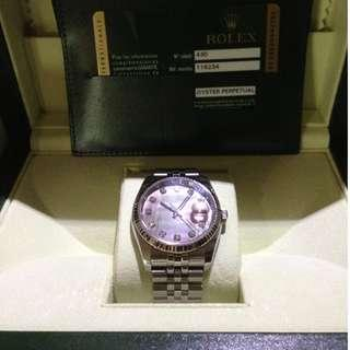 🚚 Rolex Oyster 116234 Black Mother Of Pearl with Diamonds