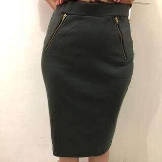 The Executive Skirt grey