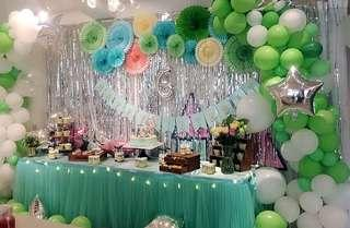 Tiffany green tulle table cloth