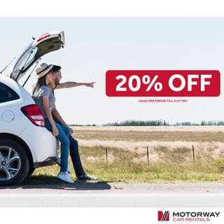 20% OFF All Rental Rates