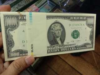 Souvenir Uka Uka 1 Jt Dollar America Gepokan
