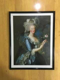 "French Portrait in Frame ""Queen Marie Antoinette"