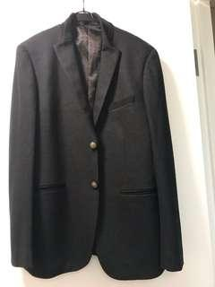 全新黑綠色男士韓式休閒西裝