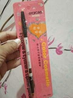 Pensil alis coklat dan hitam plus rautannya