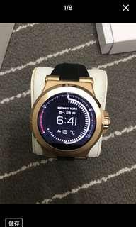 MICHAEL KORS MKT5010 金色錶殼 智慧手錶 觸控穿戴式智慧型 膠帶錶...盒裝完整...免運費
