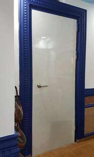 Relaminate bomb shelter door