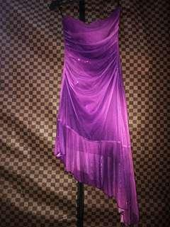 Party Midi Dress Purple