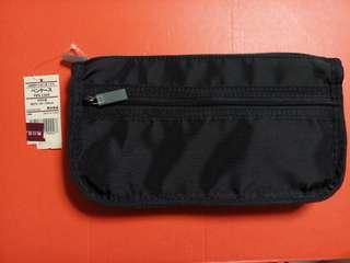 無印良品 MUJI 黑色收納袋 收納包 整理袋 整理包 雜物袋 雜物包 化妝袋 化妝包 旅行包 pen case 全新