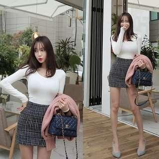 🚚 Korean Quilted Short Skirt