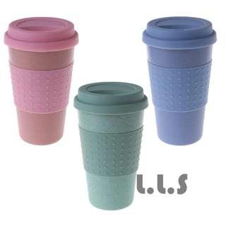 🚚 Travel Coffee Cup Reusable Bamboo Fibre Coffee Cups Eco Friendly Coffee Mug (KC1135) Singapore Seller + 100% Authentic
