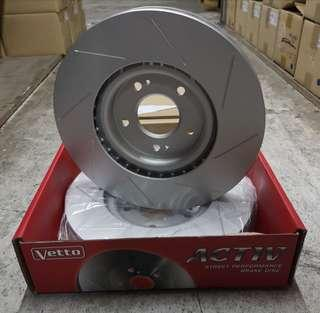 Evo 5-9 front slotted rotor