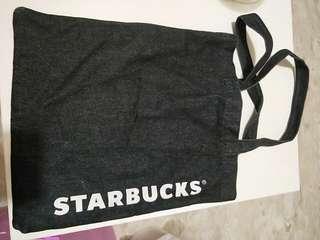 🚚 Starbucks denim tote bag
