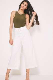 🚚 Ring zip white culottes