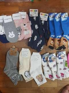 🚚 Socks Cute Korean Japanese Fashion We Bare Bears Spongebob Totoro Gudetama Animal