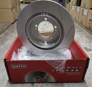 Evo 7-9 rear slotted rotor