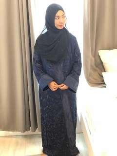 🚚 Blue leafy abaya