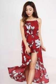 StatementMuse Red Floral Dress 🌹