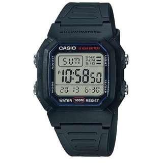 🚚 [✅FREE postage]: ✅💯Authentic Classic Casio Digital Watch W800H-1A - Black