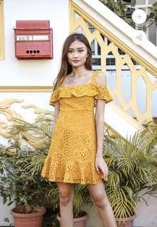 StatementMuse Jill Crochet Dress (Buttercorn)