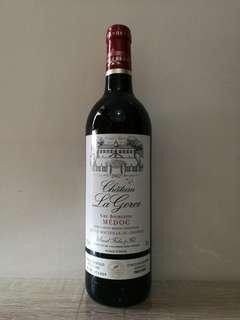 法國波爾多LA GORCE CRU BOURGEOIS 2002 紅酒