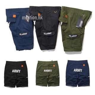 Army 短褲軍綠色