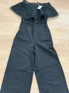 Offshoulder Jumpsuit - Black