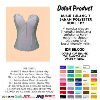 Bustier busui Tulang 7 polyester