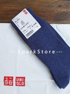 Uniqlo Kaos Kaki Regular Socks Biru Tua