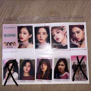 Blackpink transparent photocards