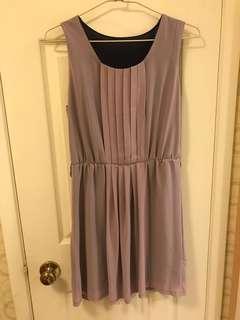 二手浪漫紫雪紡洋裝