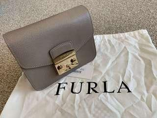 Furla Metropolis Mini leather crossbody bag with gold chain